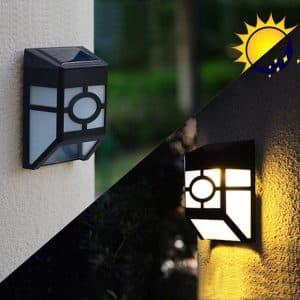 Đèn năng lượng mặt trời ốp tường 2led