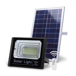 Đèn pha 100W năng lượng mặt trời
