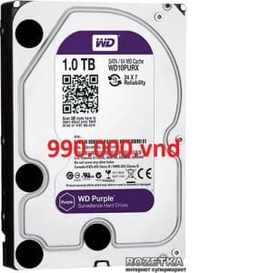 Ổ Cứng Camera 1TB/64MB/3.5 WD Purple IntelliPower WD10PURZ