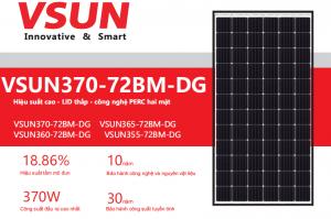 Pin năng lượng mặt trời Vsun 370W Mono