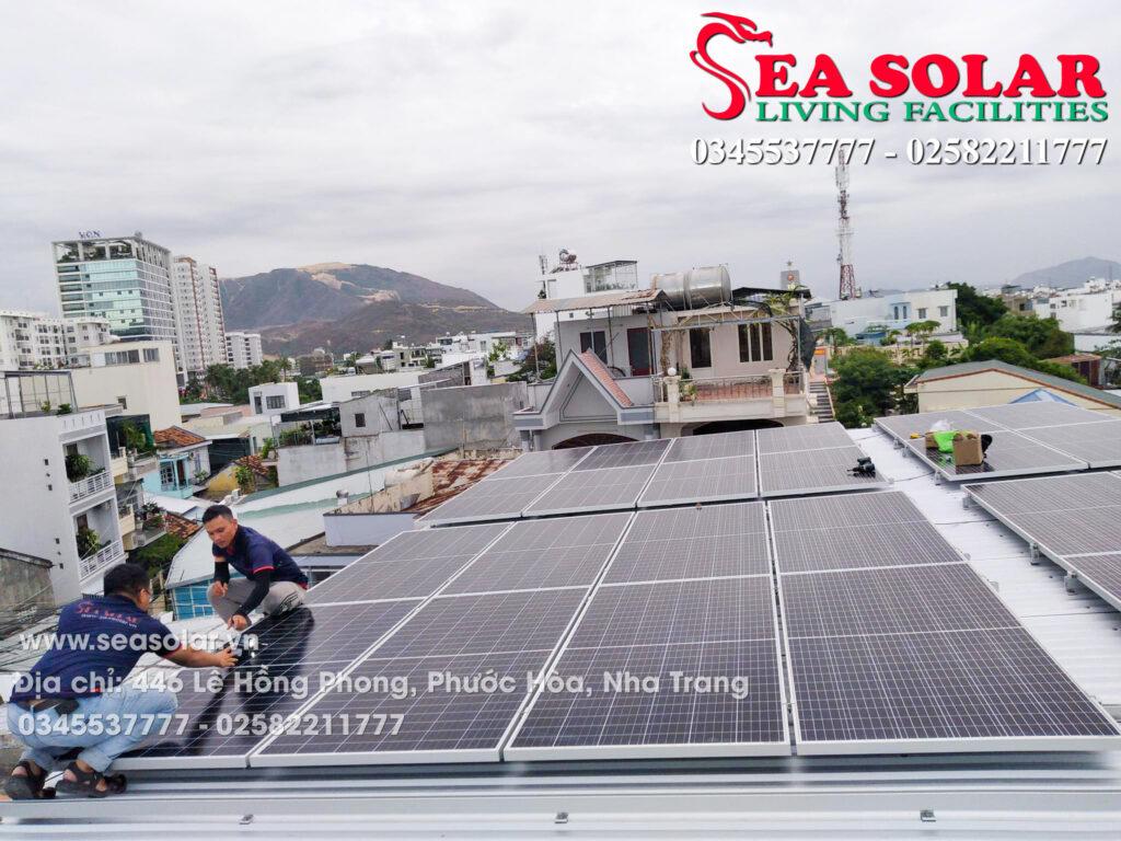 Công trình điện mặt trời hộ gia đình 15kW tại 39B Đồng Nai, Phước Hải, Nha Trang