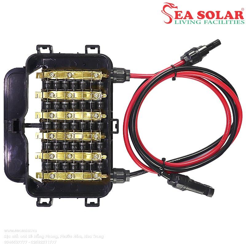 Cấu tạo của pin năng lượng mặt trời: Hộp đấu dây (junction box)