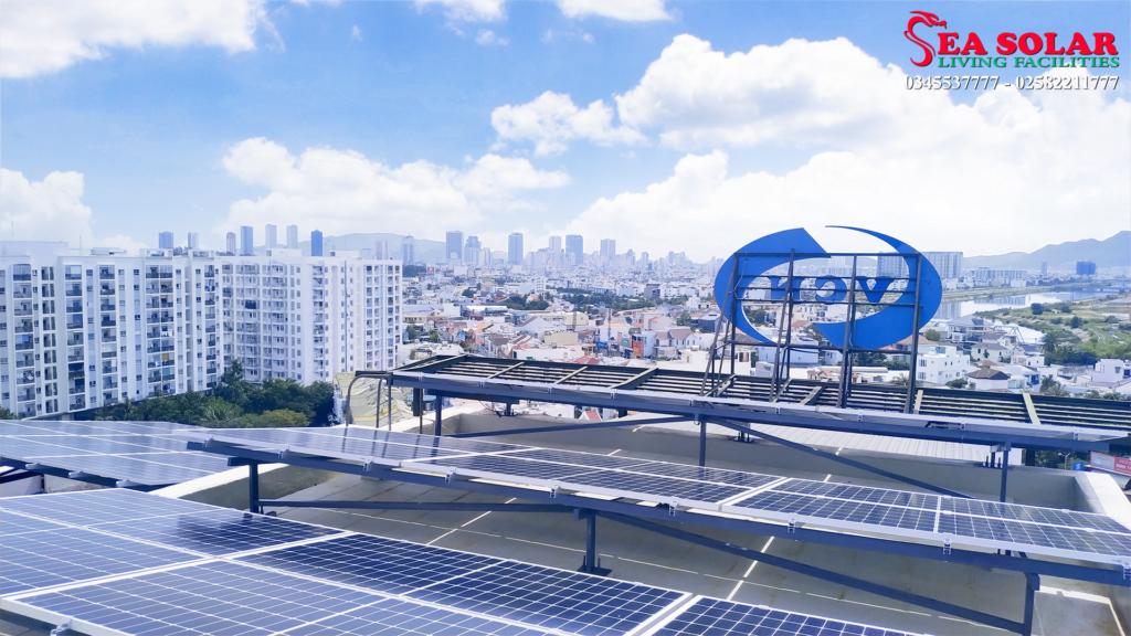 Hệ thống điện mặt trời 50kWp tại VCN Building, Vĩnh Điềm Trung, Nha Trang